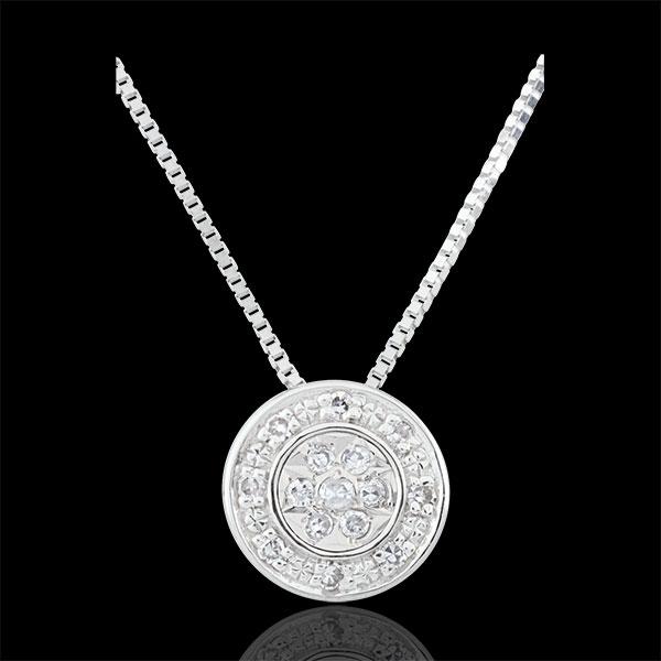 Collier Destinée - Elsa - 15 diamants - or blanc 9 carats