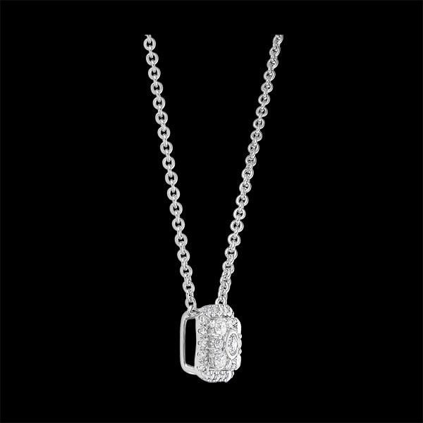Collier Destinée - Isis - or blanc 9 carats et diamants