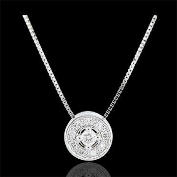 Collier Destinée - Ludmila - or blanc 9 carats et diamants