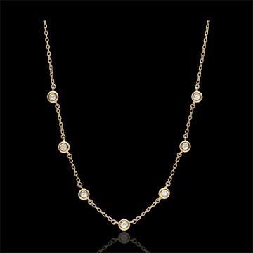 Collier diamant Caliste - or jaune 9 carats