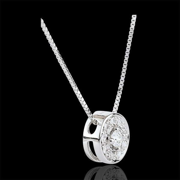 Collier diamant Ludmila - or blanc 9 carats