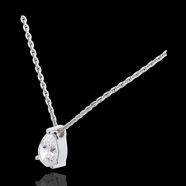 Collier Diamantträne in Weissgold - 1 Karat