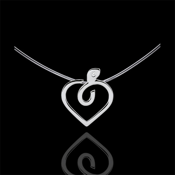 Collier Diapple - or blanc 9 carats