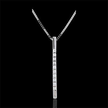 Collier Diata - Oro bianco - 9 carati - 10 Diamanti - 0.13 carati