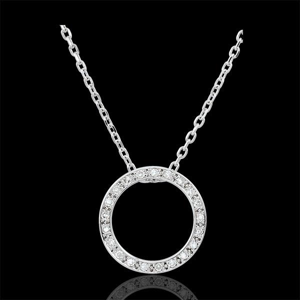 Collier Elisée - 21 diamants - or blanc 9 carats