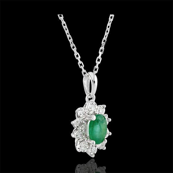 Collier Eterno Edelweiss - Margherita Illusione - smeraldo e diamanti - oro bianco 18 carati