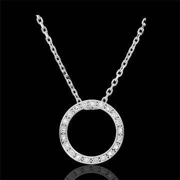 Collier Elisée - 21 diamants - or blanc 9 carats