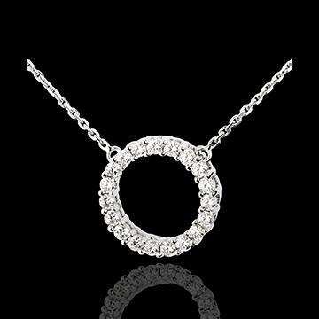 Collier Firmament in Weissgold - 0.75 Karat - 19 Diamanten
