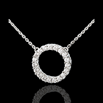 Collier Firmament or blanc 18 carats - 0.75 carats - 19 diamants