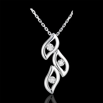 Collier Flammes or blanc 18 carats et diamants