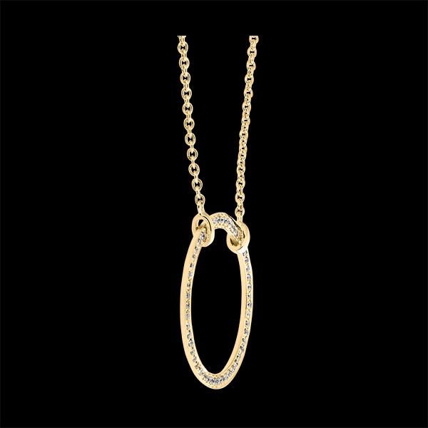 Collier Fraîcheur - Circé - or jaune 9 carats et diamants