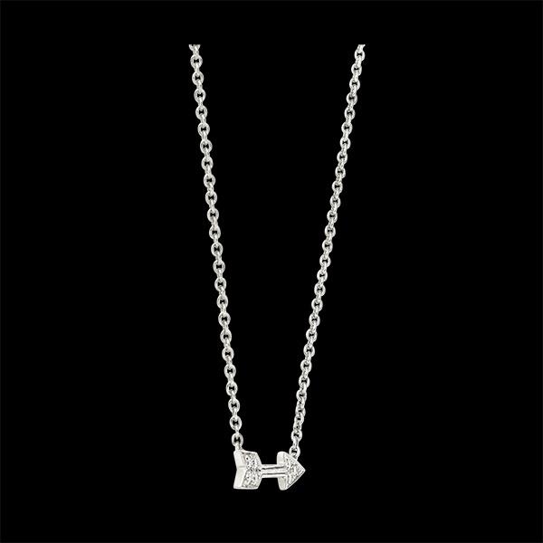 Collier Fraîcheur - Cupidon - or blanc 9 carats et diamants