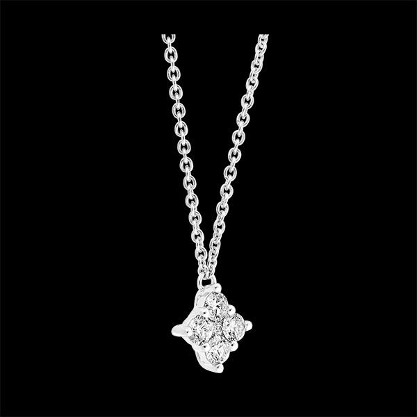 Collier Fraîcheur - Dina - or blanc 9 carats et diamants