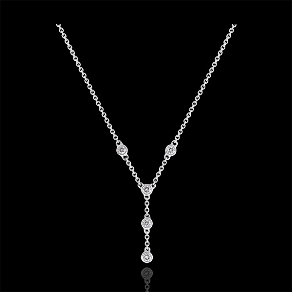 Collier Fraîcheur - Grâce - or blanc 9 carats et diamants