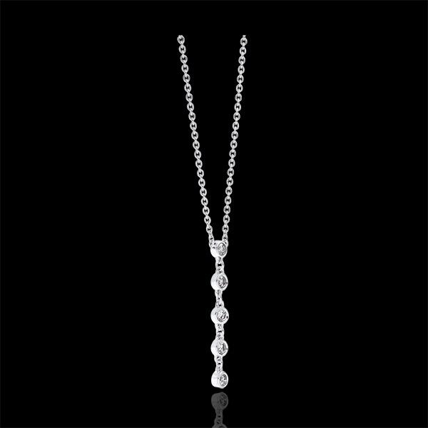 Collier Fraîcheur - Scintillant - or blanc 18 carats et diamants