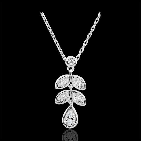 Collier Hesmé - 7 diamants - or blanc 9 carats