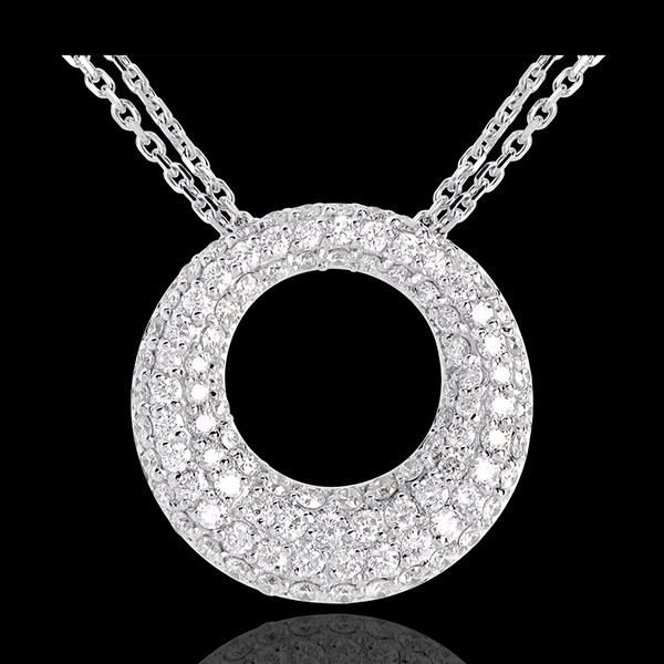Collier Kassiopeia in Weissgold - 1.55 Karat - 104 Diamanten