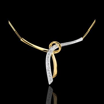 Collier Liane - Gelbgold mit 3 Diamanten