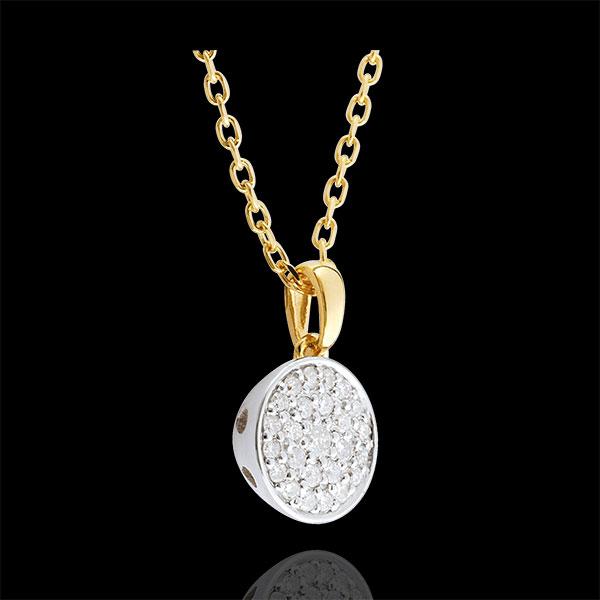 Collier Ma Constellation bicolore - 0.163 carat - or blanc et or jaune 9 carats