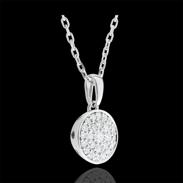 Collier Ma Constellation or blanc 18 carats - 0.163 carat