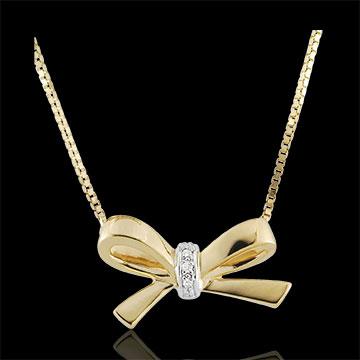 Collier Noeud Carlotta - or jaune 9 carats