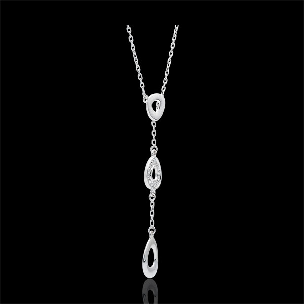 Collier or blanc 9 carats Ogiva