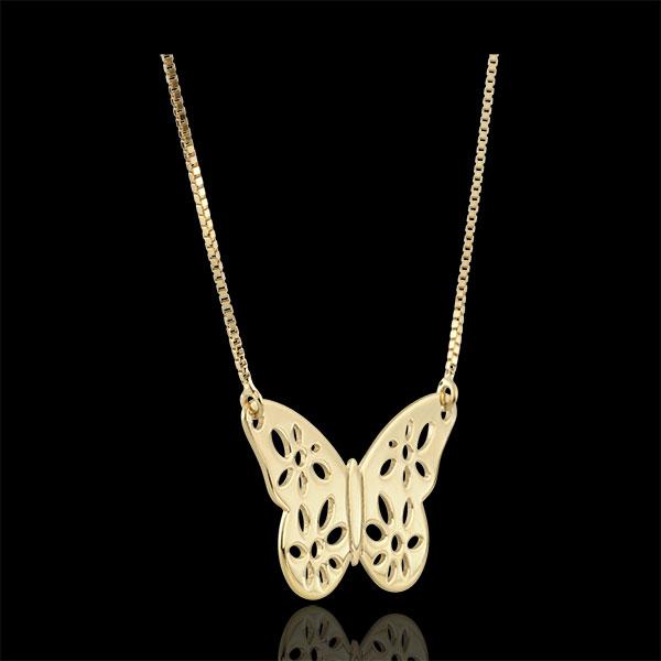 Collier Papillon Dentelle - or jaune 9 carats