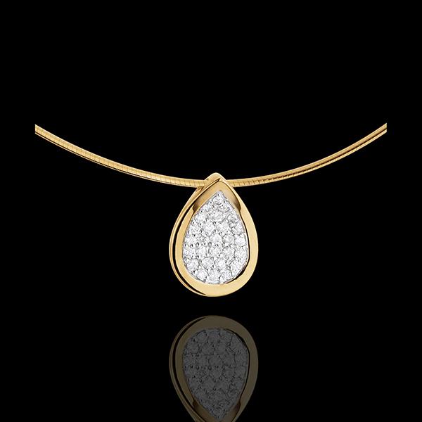 Collier pendentif larme de gazelle - or jaune 18 carats