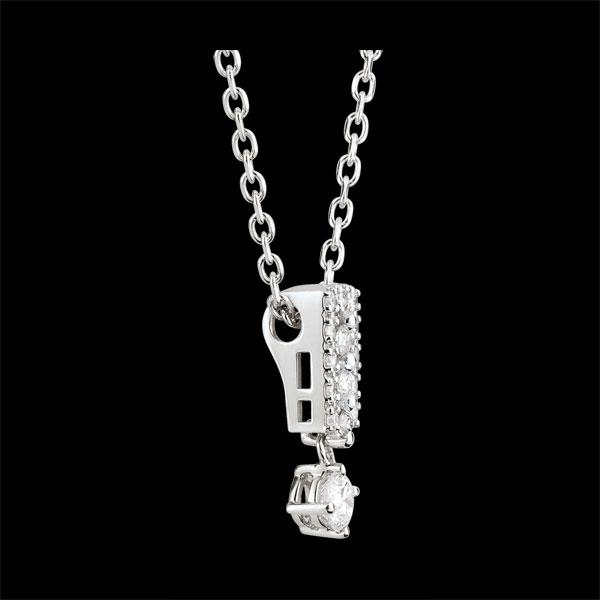 Collier Schicksal - Medici - Diamant und Weißgold - 18 Karat