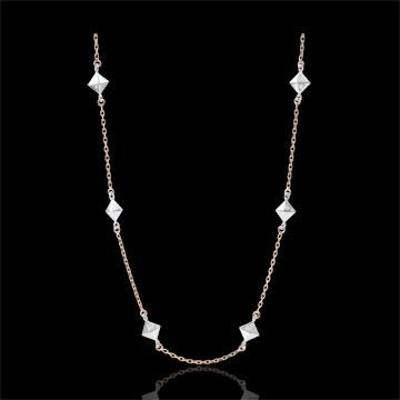 Collier Schöpfung - Rohdiamanten - Roségold - 18 Karat