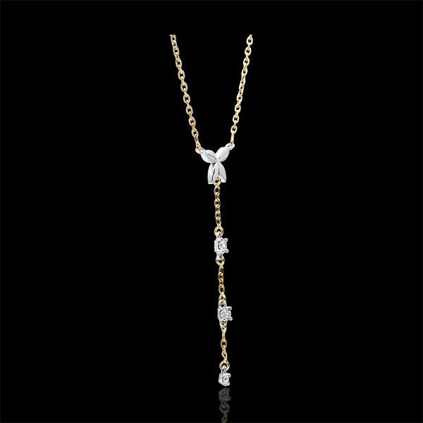 Collier Souffle léger - deux ors - or blanc et or jaune 9 carats