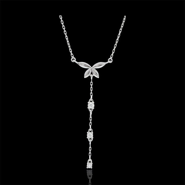 Collier Souffle léger - or blanc 18 carats