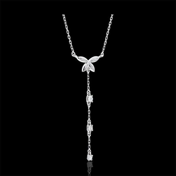 Collier Souffle léger - or blanc 9 carats