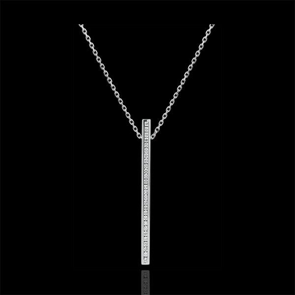 Collier Sternbilder - Himmelskörper - Weißgold und Diamanten - 9 Karat