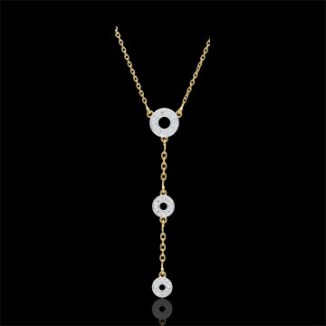 Collier Tala - or blanc et or jaune 9 carats