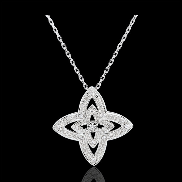 Collier Talisse - or blanc 9 carats