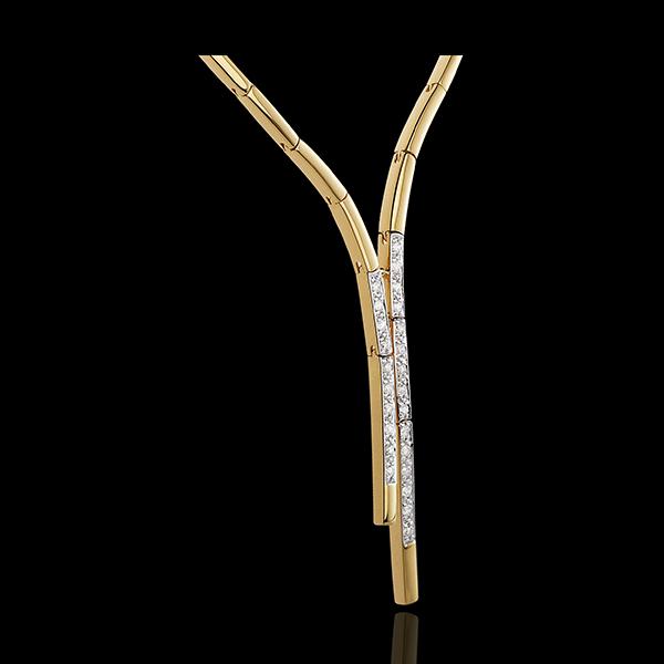 Collier tenue de soirée - or blanc et or jaune 18 carats