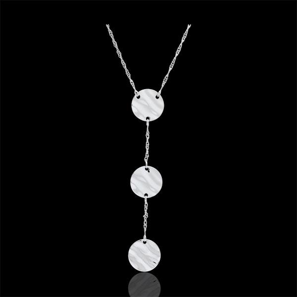 Collier Trois Soleils - or blanc 9 carats