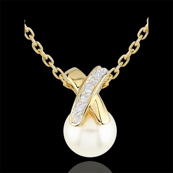 Cross-shaped Pearl Pendant
