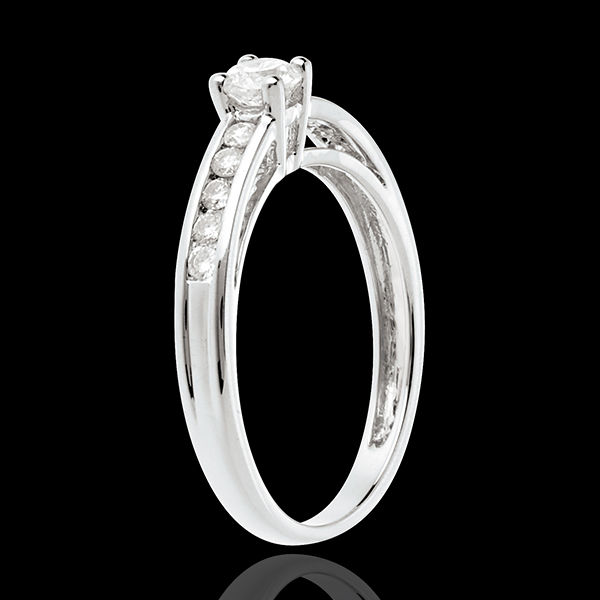Decadence Diamond Set Shoulder Ring white gold - 0.39 carat - 11 diamonds
