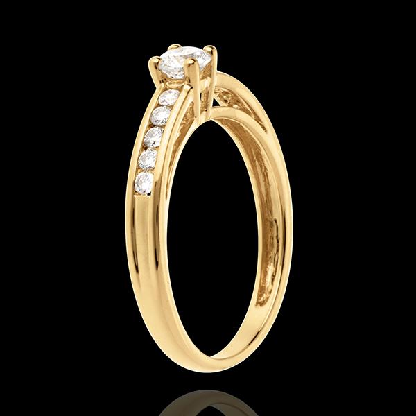 Decadence Side Stone Ring yellow gold - 0.39 carat - 11 diamonds