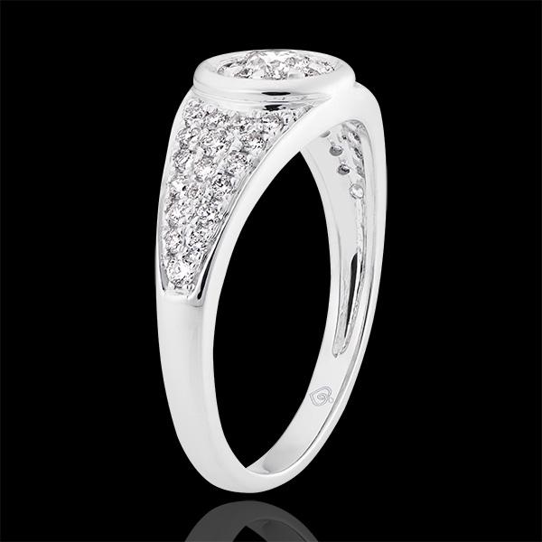 Destiny - Appoline Engagement Ring - 9K White Gold and Diamonds