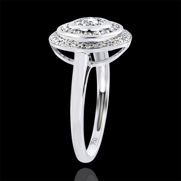 Destiny Engagement Ring - Hypnosis - white gold 18 carats and diamonds