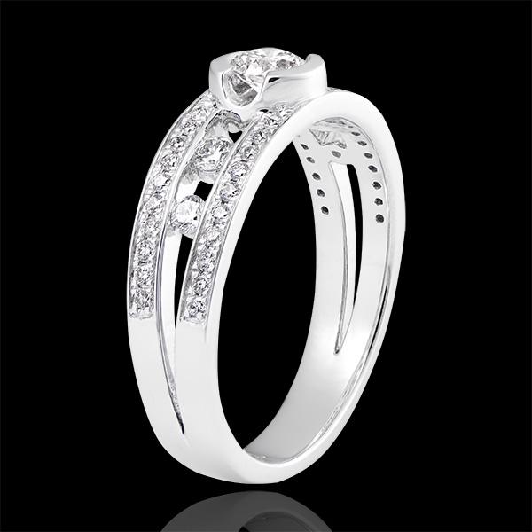 Destiny - Filipino Engagement Ring - 18K White Gold and Diamonds