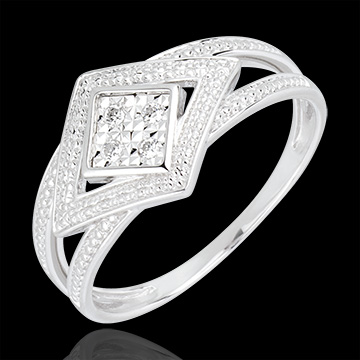 Destiny Ring - Andromache - white gold and diamonds