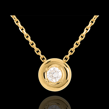 Diamant Collier Kelch in Gelbgold