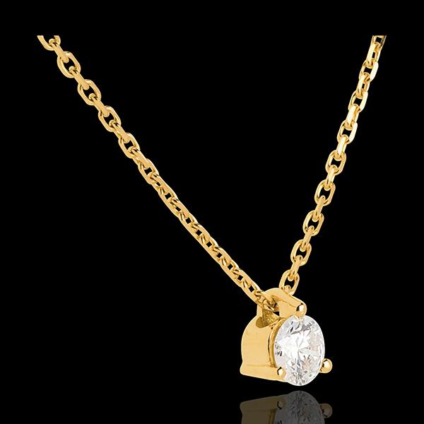 Diamant Collier Solitär in Gelbgold - 0.205 Karat