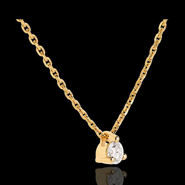 Diamant Collier Solitär in Gelbgold