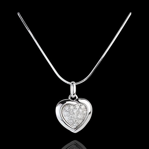 Diamantanhänger Sweet Heart Blanc - 18 Diamanten