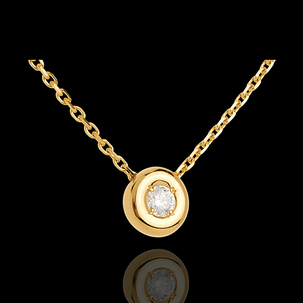 Diamantcollier Kelch in Gelbgold